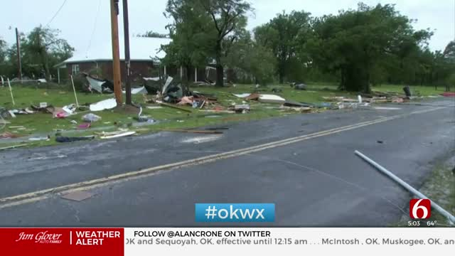 Storms Leave Damage Behind Near Keefeton in Muskogee County