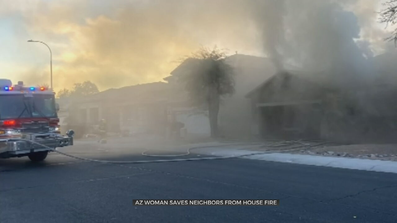 Caught On Camera: Neighbor Saves Family From Housefire