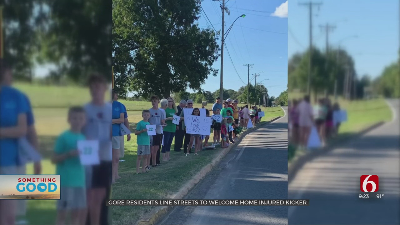 Gore Community Lines Street To Support Injured High School Football Player