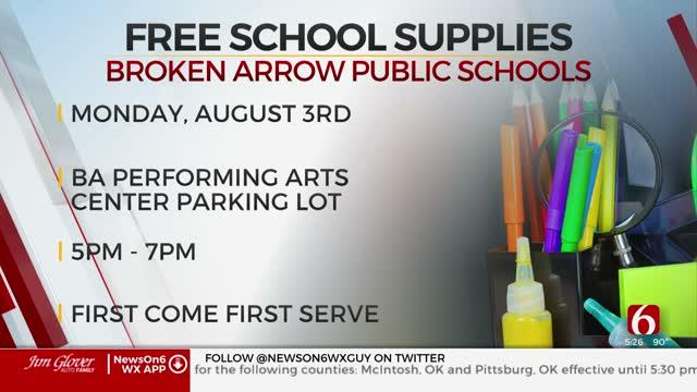 Broken Arrow Public Schools To Hand Out Free School Supplies