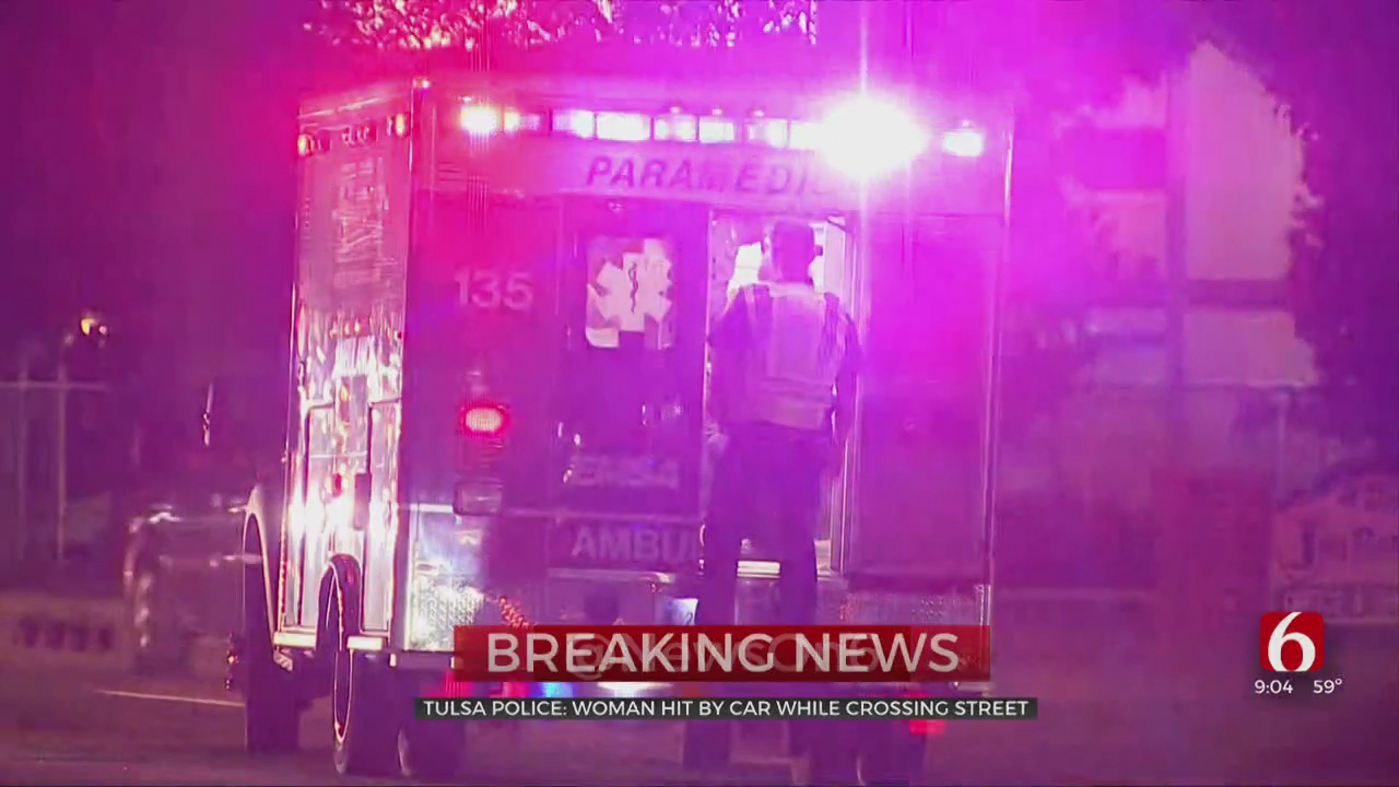 Woman Hit By Car While Crossing Street, Tulsa Police Say