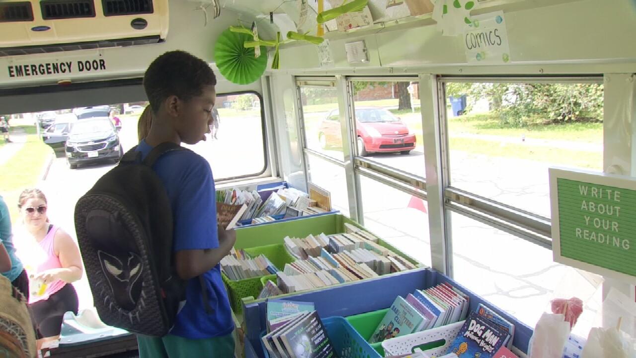 Gaining Ground Book Bus Has Biggest Summer Ever