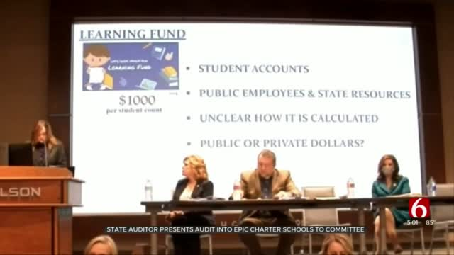 State Auditor Presents Findings From Epic Charter Schools To House Committee