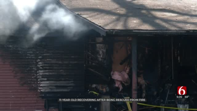 Turley Firefighters Say Girl Is Recovering After Being Rescued From House Fire