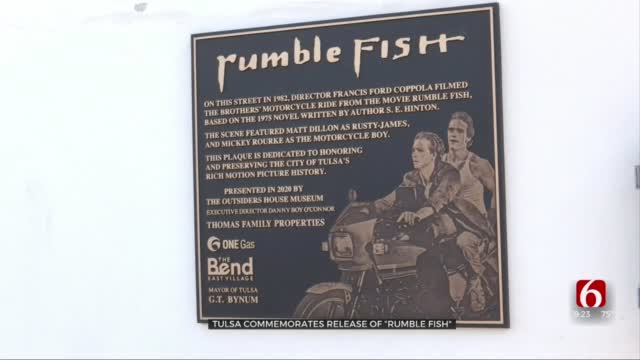Tulsa Commemorates Anniversary Of 'Rumble Fish' Release