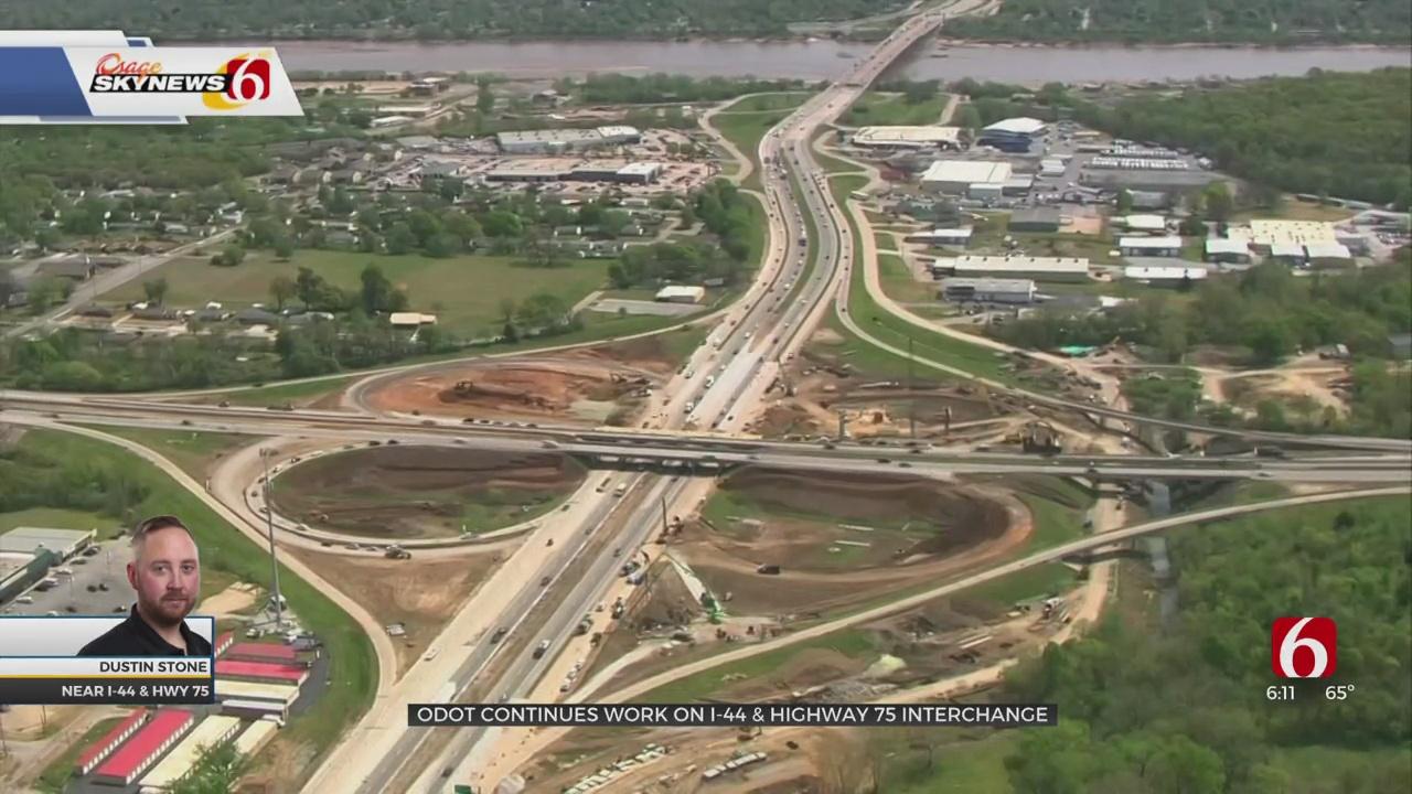 ODOT Making Progress On I-44 & Highway 75 Interchange