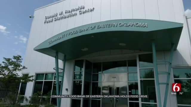 Community Foodbank Of Eastern Oklahoma Hosts Drive-Thru Food Pantry