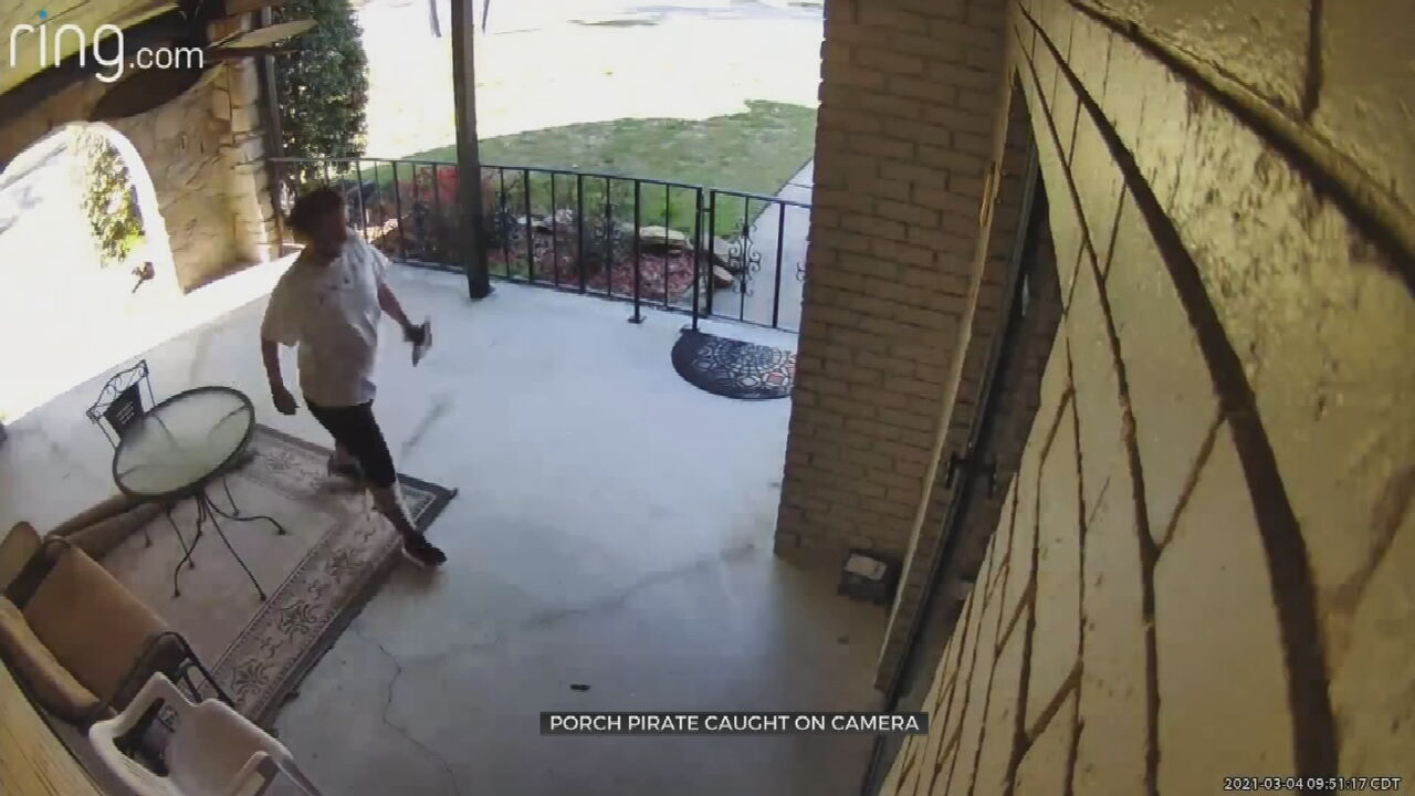 Caught On Camera: Tulsa Homeowner Warns Others After Package Stolen By Porch Pirate