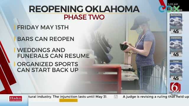Oklahoma Ready For Phase 2 Of Reopening, Gov. Stitt Says
