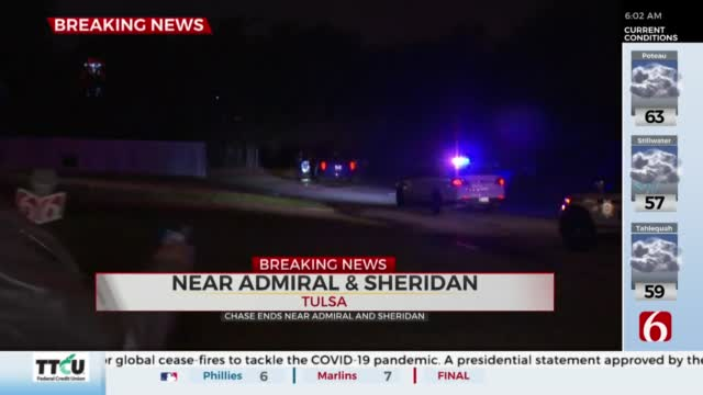 Tulsa Police Chase Ends Near Admiral And Sheridan