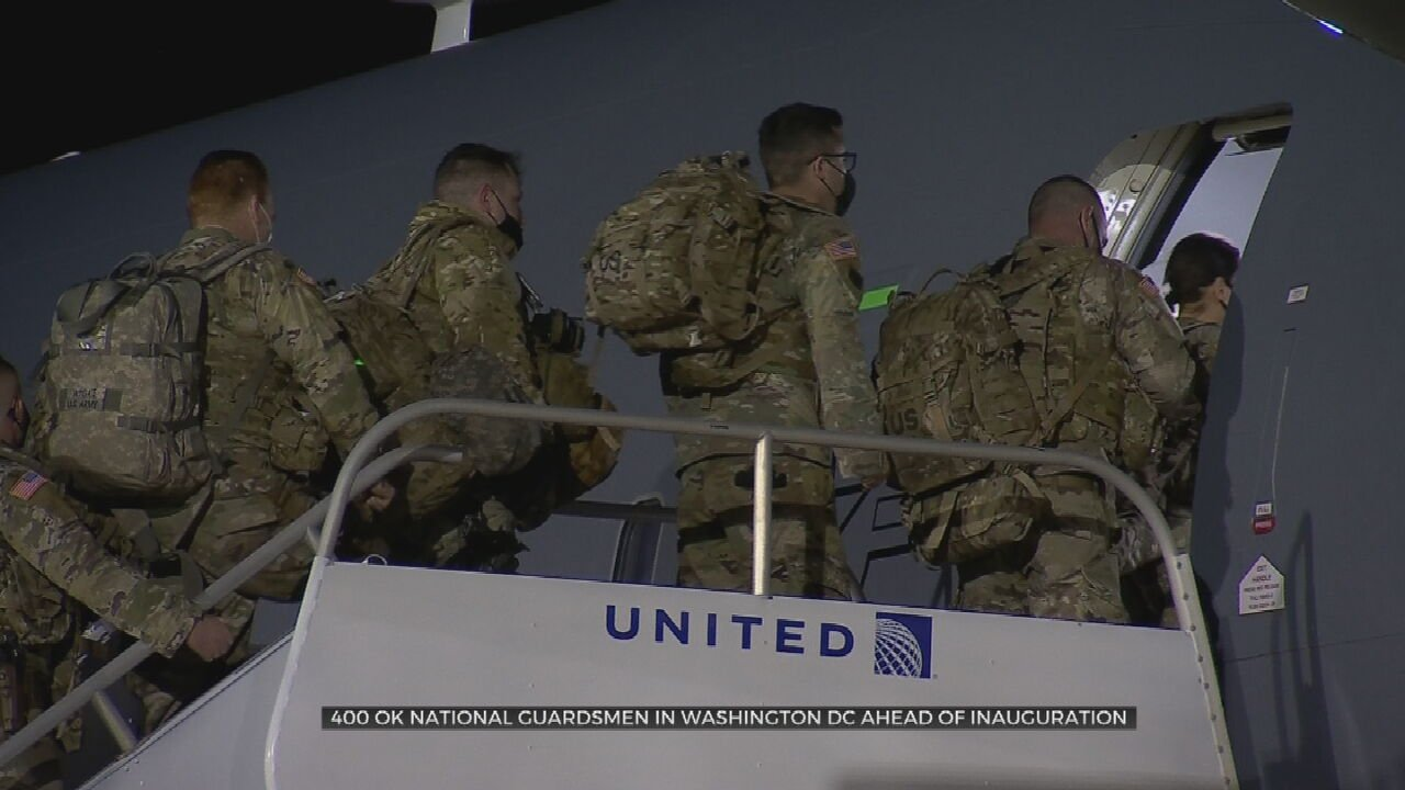 Oklahoma National Guardsmen Deploy To Washington D.C. Ahead Of Presidential Inauguration