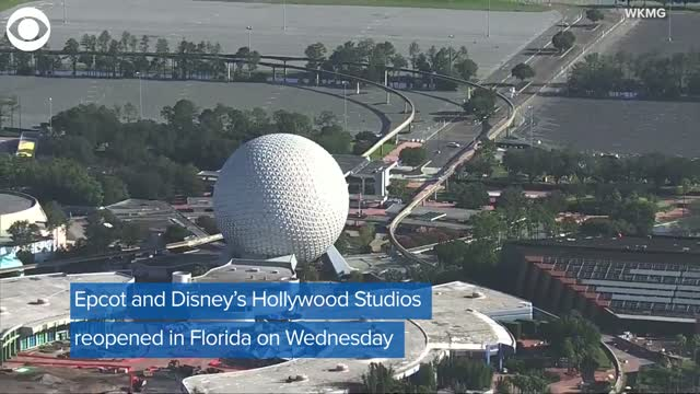 Epcot, Disney's Hollywood Studios In Florida Reopen