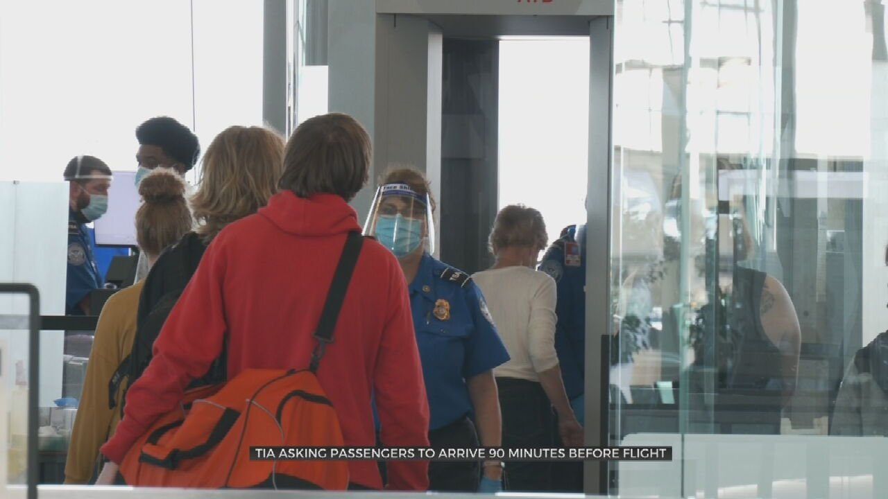 Tulsa International Airport Asks Fliers To Arrive Early To Cut Down On Wait Times