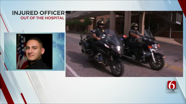 Tulsa Officer Shot During Traffic Stop Transferred To Rehab Facility