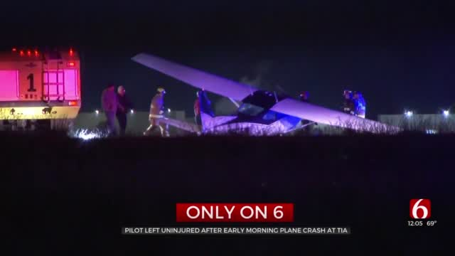 Plane Crash-Lands At Tulsa International Airport After Landing Gear Malfunction