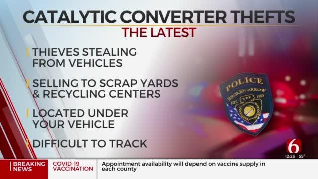 Broken Arrow Police Warn Of Rise In Catalytic Converter Thefts