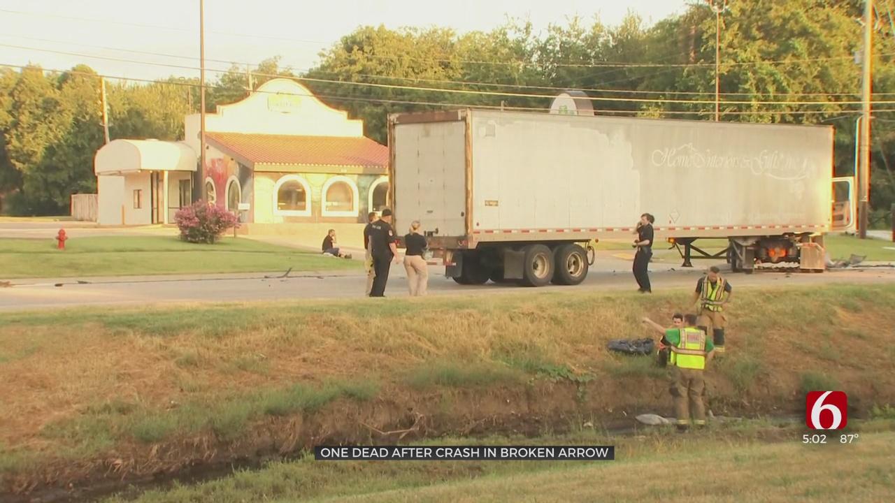 34-Year-Old Killed In Broken Arrow Crash With Semi