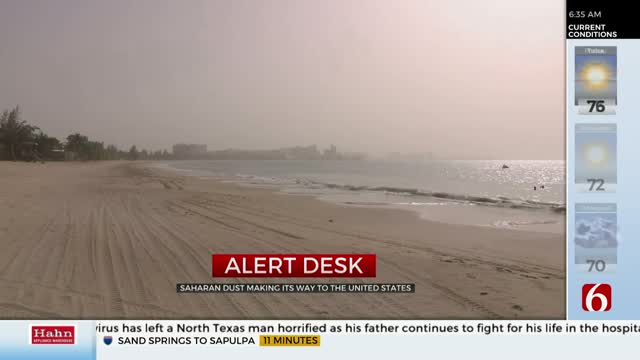 Giant Dust Plume Headed To US, Expected To Arrive In Oklahoma