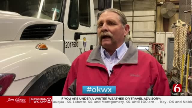City Of Tulsa Crews Begin Preparations For Possible Icy Roads