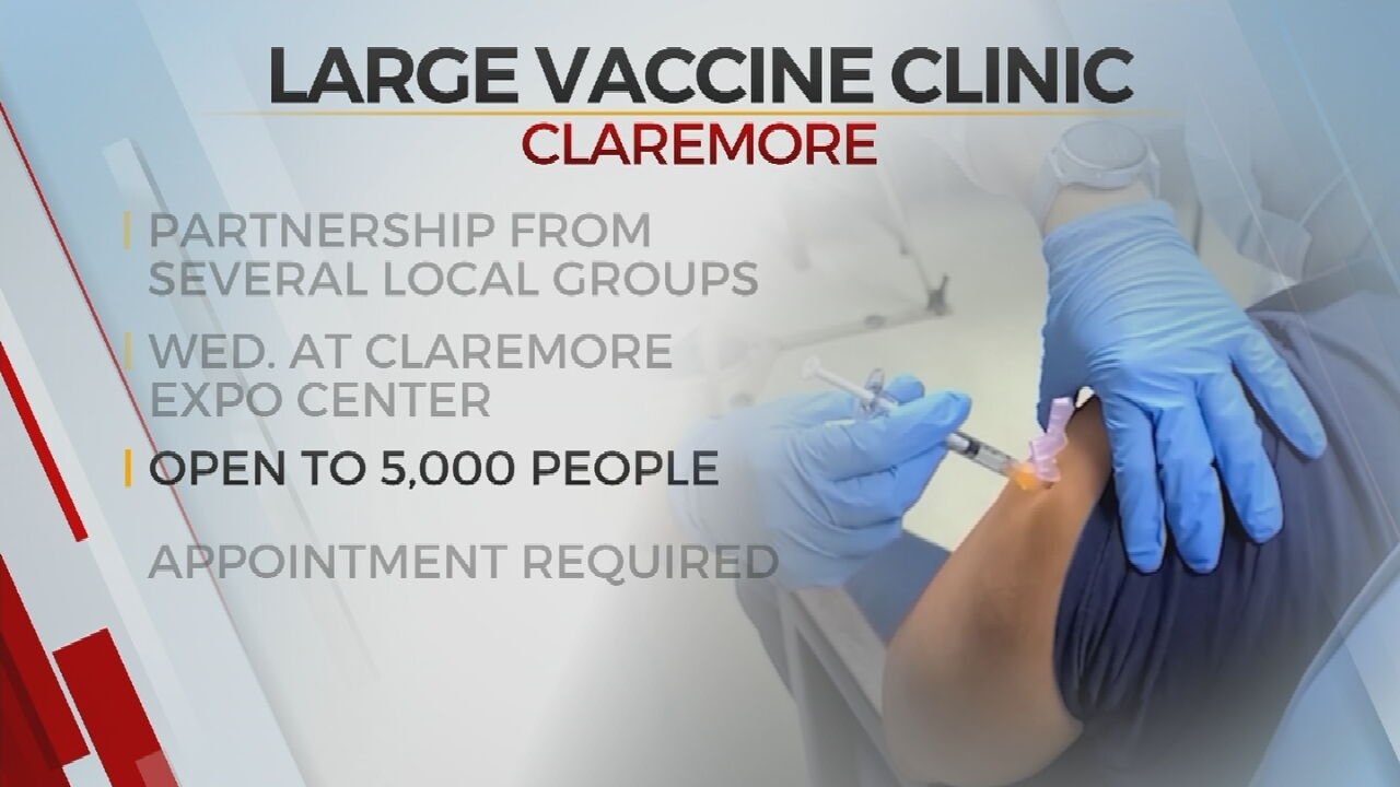 Indian Health Services To Host Large-Scale Vaccination Clinic With City Of Claremore