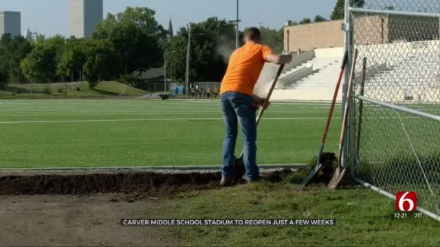 Carver Middle School Stadium Preparing To Open