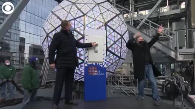 WEB EXTRA NYE Ball drop test in Times Square