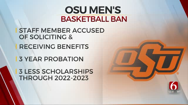 Oklahoma State Fined $10,000, Men's Basketball Team Banned From Upcoming Postseason In Fallout From Corruption Scandal