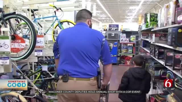 Porter, Wagoner Students Go Christmas Shopping With Wagoner Co. Deputies