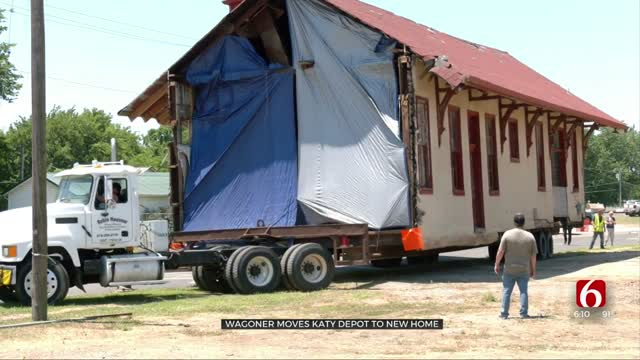 Wagoner Moves Katy Depot To New Home