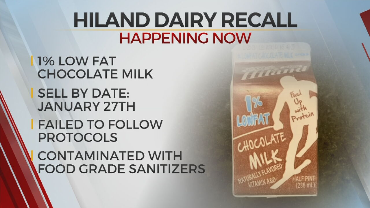 Hiland Dairy Issues Recall For Milk Contaminated With Food Grade Sanitizers