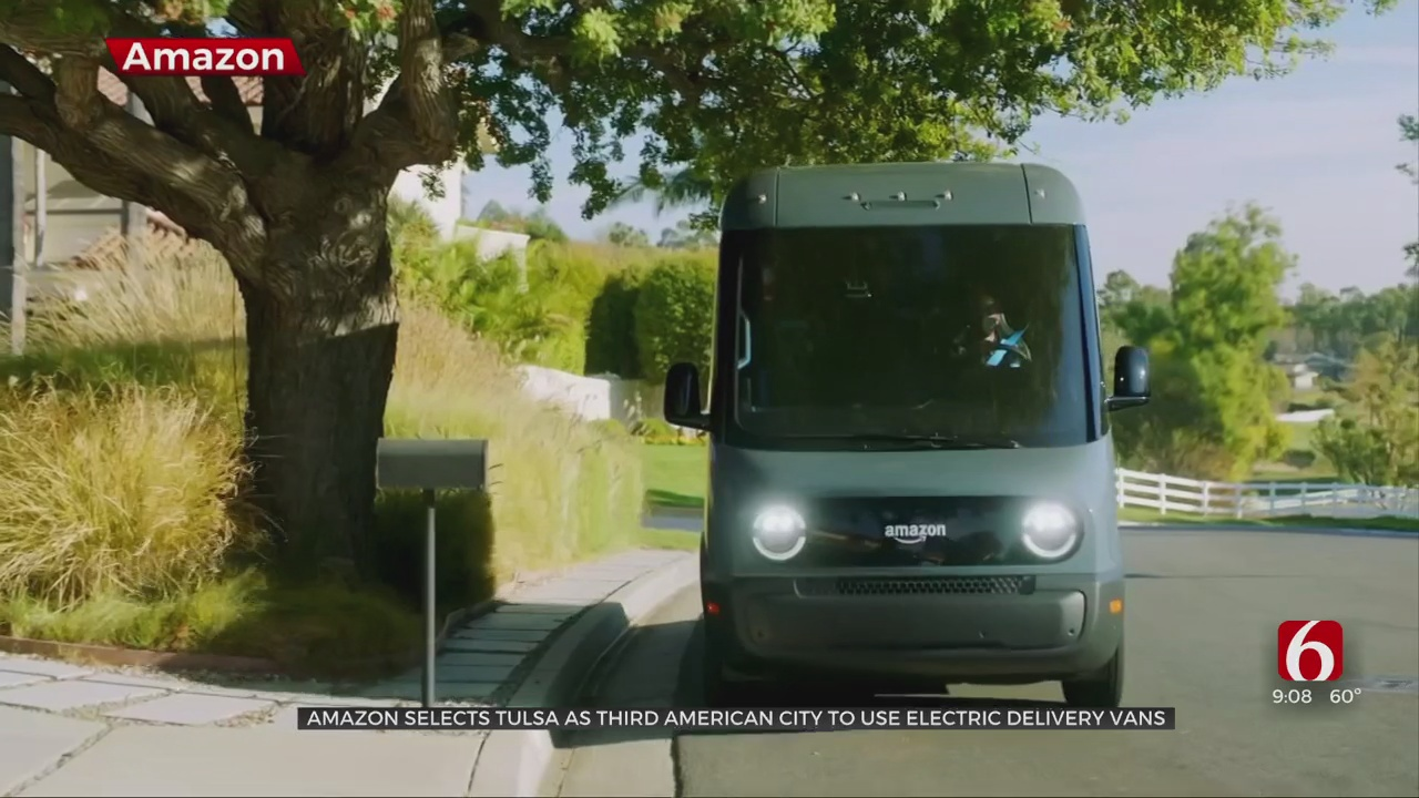 Tulsa Selected As 3rd American City To Welcome Amazon Electric Delivery Vans