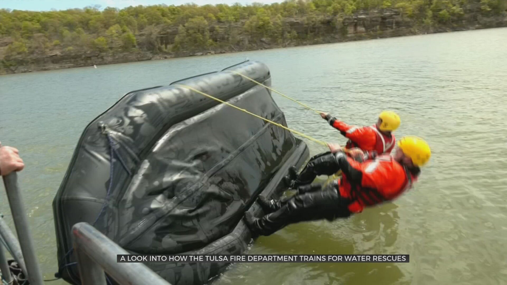 A Look At How The Tulsa Fire Department Trains For Water Rescues