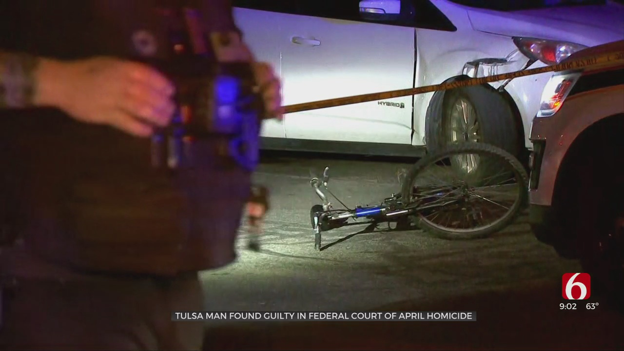 Tulsa Man Convicted Of Killing Bicyclist In Drive-By Shooting