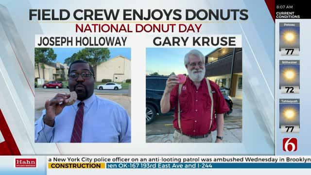 News On 6's Joseph Holloway, PhotoJournalist Gary Kruse Celebrate National Donut Day