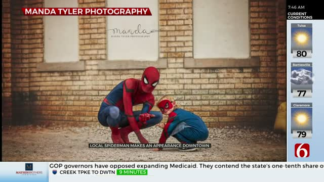 Spider-Man Takes Photos With 4-Year-Old For His Birthday