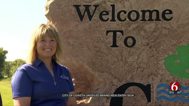 City Of Coweta Unveils Brand New Welcome Sign