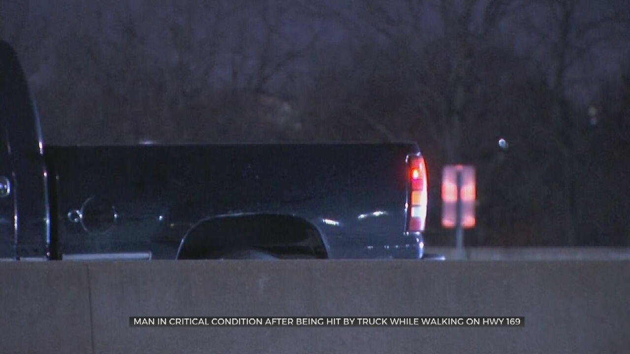 Tulsa Police: Man In Critical Condition After Being Hit By Truck