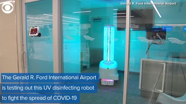 Watch: Robots Disinfect The Gerald R. Ford International Airport in Michigan