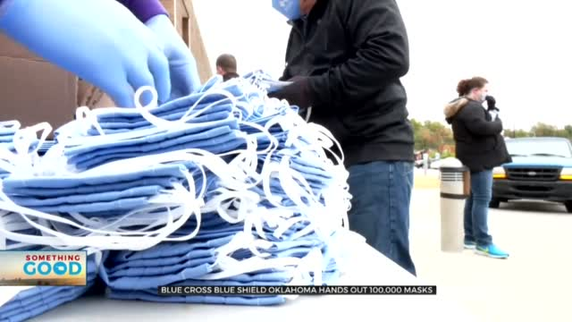 Blue Cross Blue Shield Oklahoma Give Out 100,000 Face Masks