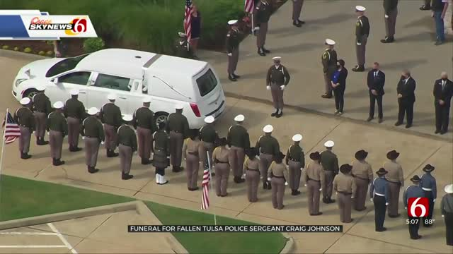 Community Pays Respects At Funeral For Fallen Tulsa Police Sergeant