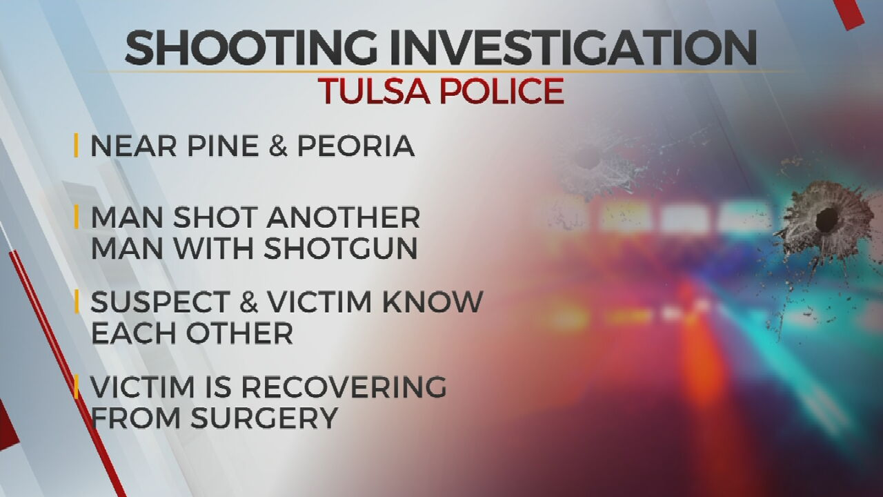 Tulsa Police Investigate After Man Injured By Shotgun Blast In Early Morning Shooting