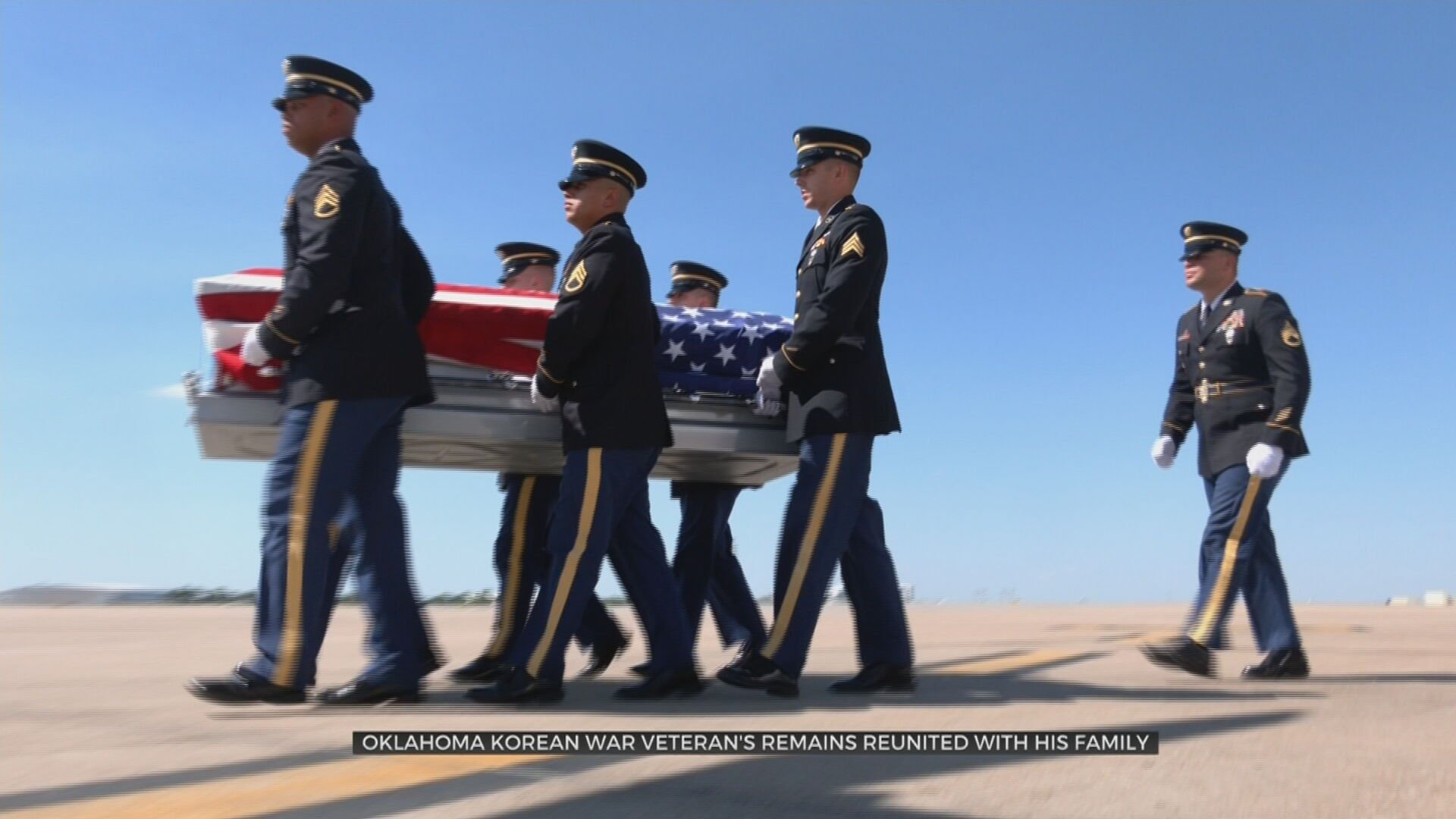 Korean War Veteran's Remains Returned Home To Oklahoma After 70 Years MIA