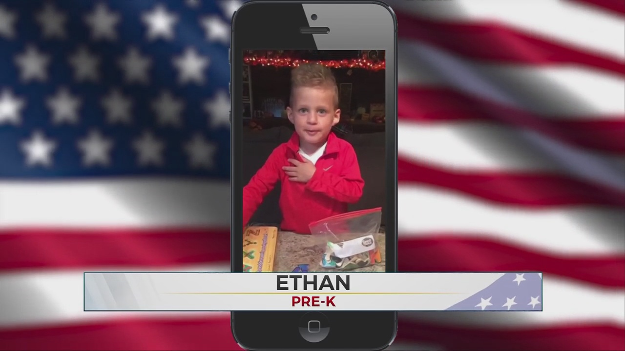 Daily Pledge: Pre-K Student Ethan