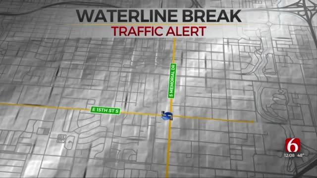 Tulsa Waterline Break Impacts Businesses, Residents