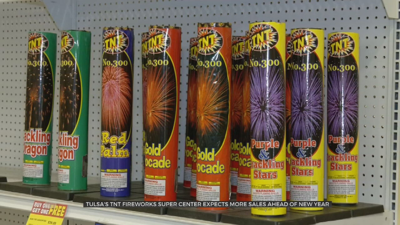 Tulsa Fireworks Store Owner Expects To See Increased Traffic Ahead Of New Year's Eve