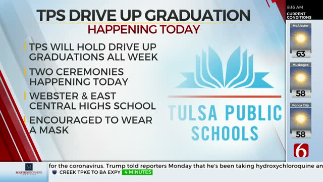 Watch: Tulsa Public Schools To Hold Drive-Up Graduation Ceremonies