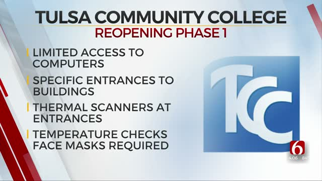 TCC Announces Phase One Reopening Plan