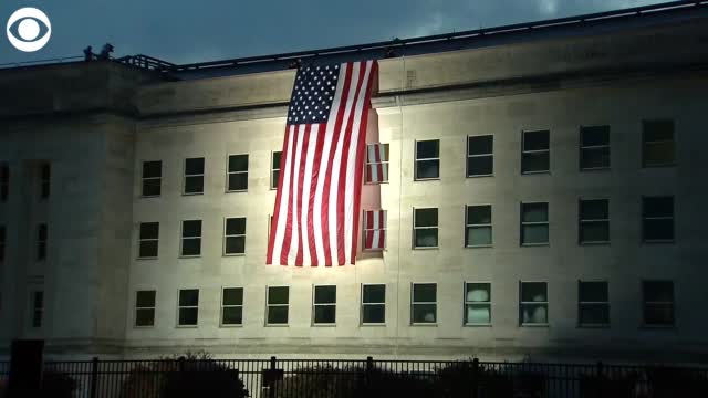 Watch: American Flag Unfurled At The Pentagon on 9/11
