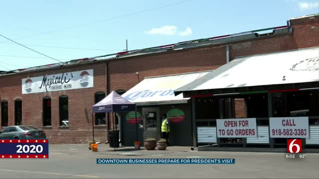 Downtown Tulsa Businesses Enact Precautions For President's Visit