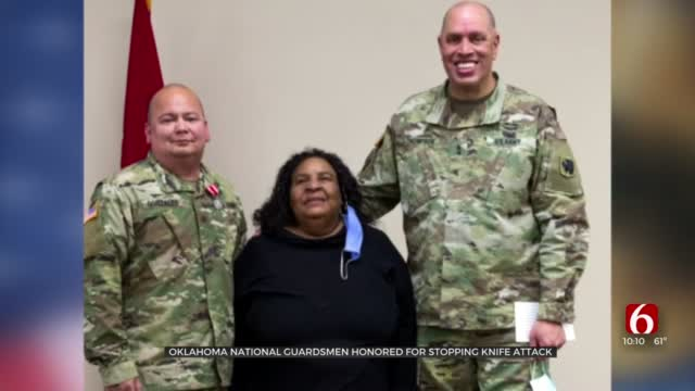 Oklahoma National Guardsman Honored For Stopping Knife Attack